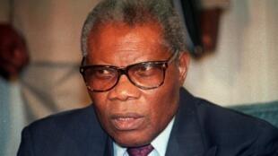 L'ex-président du Congo-Brazzaville, Pascal Lissouba, ici le 27 septembre 1992.