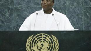 Rais wa Gambia, Yahya Jammeh akihutubia kwenye umoja wa Mataifa, 27 September 2013.