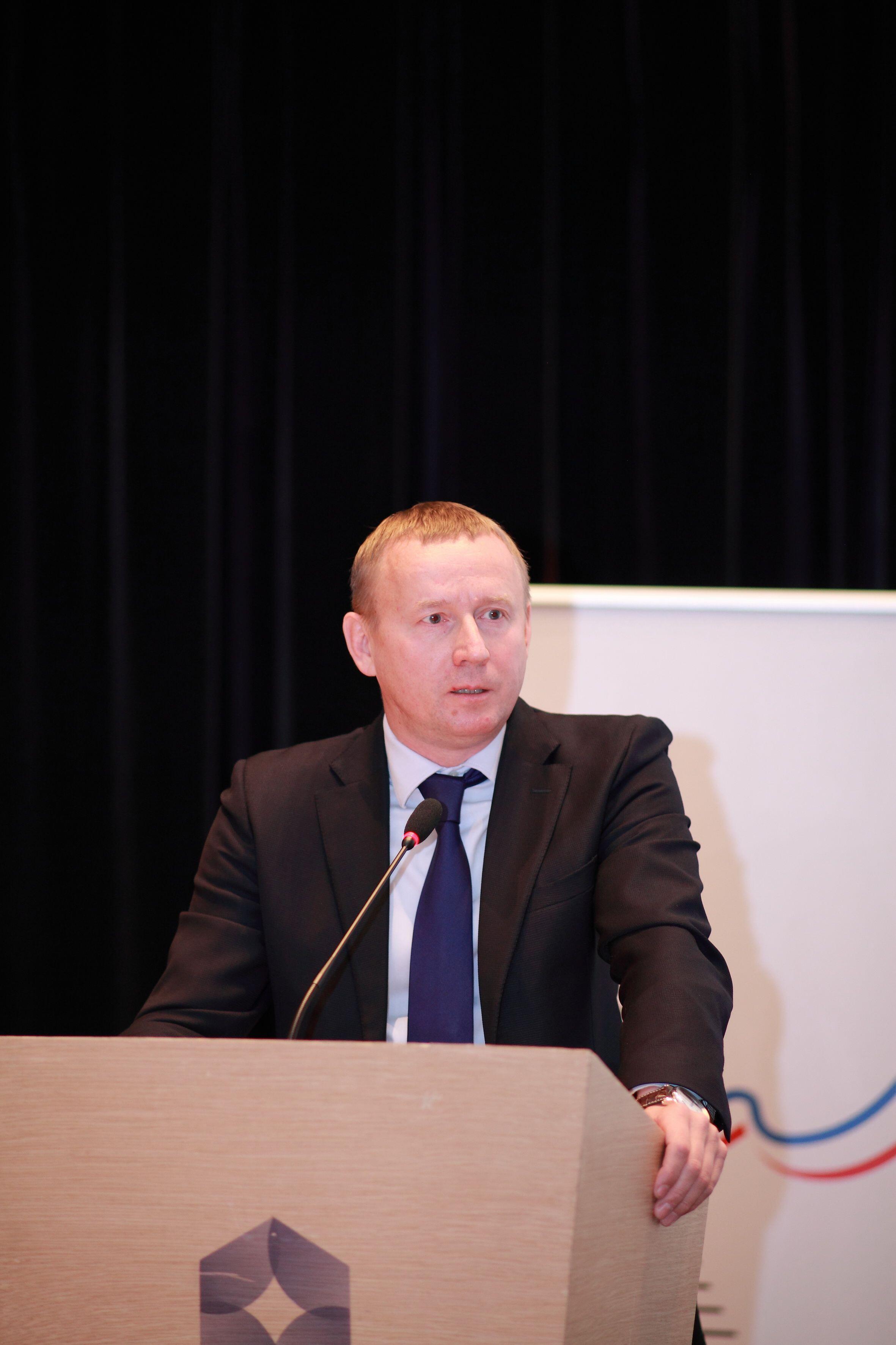 Serguey Touchin, chargé des grands évènements à la mairie d'Ekaterinbourg, seule ville participante au Mondial 2018 située en Asie.