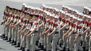 Défilé de la Légion étrangère, le 14 juillet 2012 à Paris.
