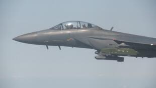 យន្តហោះចម្បាំងកូរ៉េខាងត្បូង F-15K នៅក្នុងសមយុទ្ធ កាលពីថ្ងៃទី ១៣កញ្ញា ឆ្នាំ ២០១៧