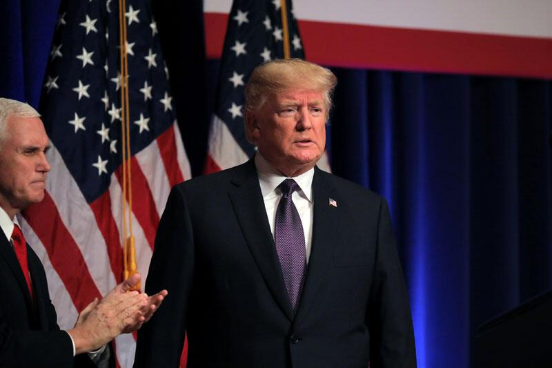 O presidente americano, Donald Trump, usou um tom mais leve em seu discurso sobre o relatório de segurança dos EUA
