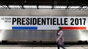 Con tàu «bầu cử tổng thống» của giới truyền thông đi khắp nước Pháp, từ ngày 05/03 đến 13/04/2017