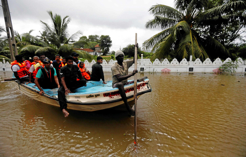 Le bilan des innondations causées par la mousson au Sri Lanka fait état d'au moins 177 morts.