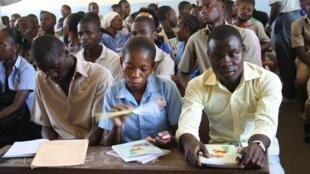 Des lycéens congolais à Brazzaville.