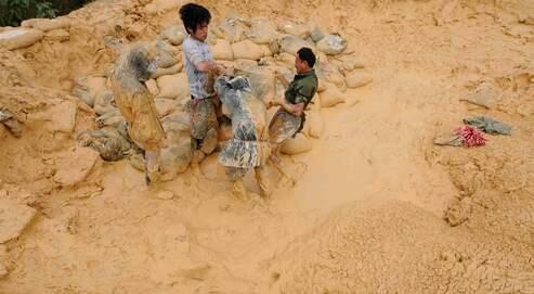 Un gisement de terre rare dans la province du Jiangxi.