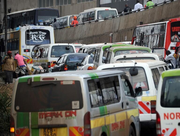 Foleni kubwa ya magari Nairobi, mji mkuu wa Kenya.