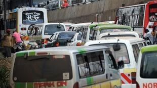 A traffic jam in the Kenyan capital, Nairobi