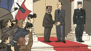 Couverture de la bande dessinée «Une affaire d'Etats», de David Servenay et Thierry Martin.