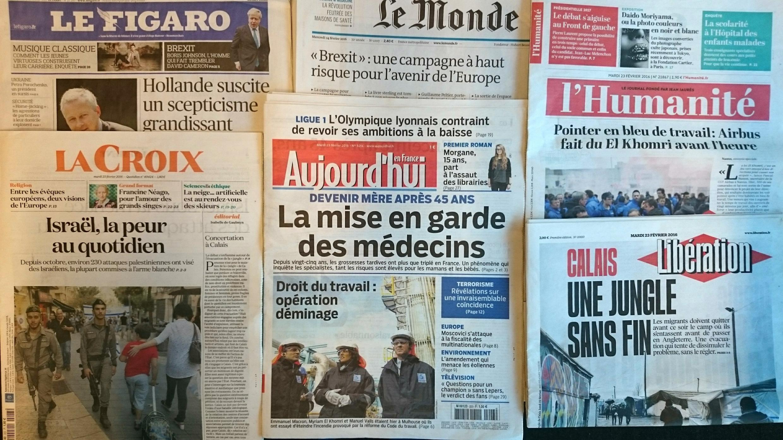 Imprensa francesa do dia 23.2.2016