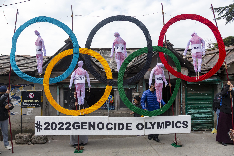 Tibet - Chine - Jeux Olympiques - Manifestation - AP21137156853577