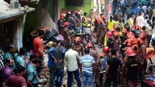 孟加拉吉大港天然气管线爆炸 至少7死8伤  救援人员抵达出事现场                           2019年11月17日