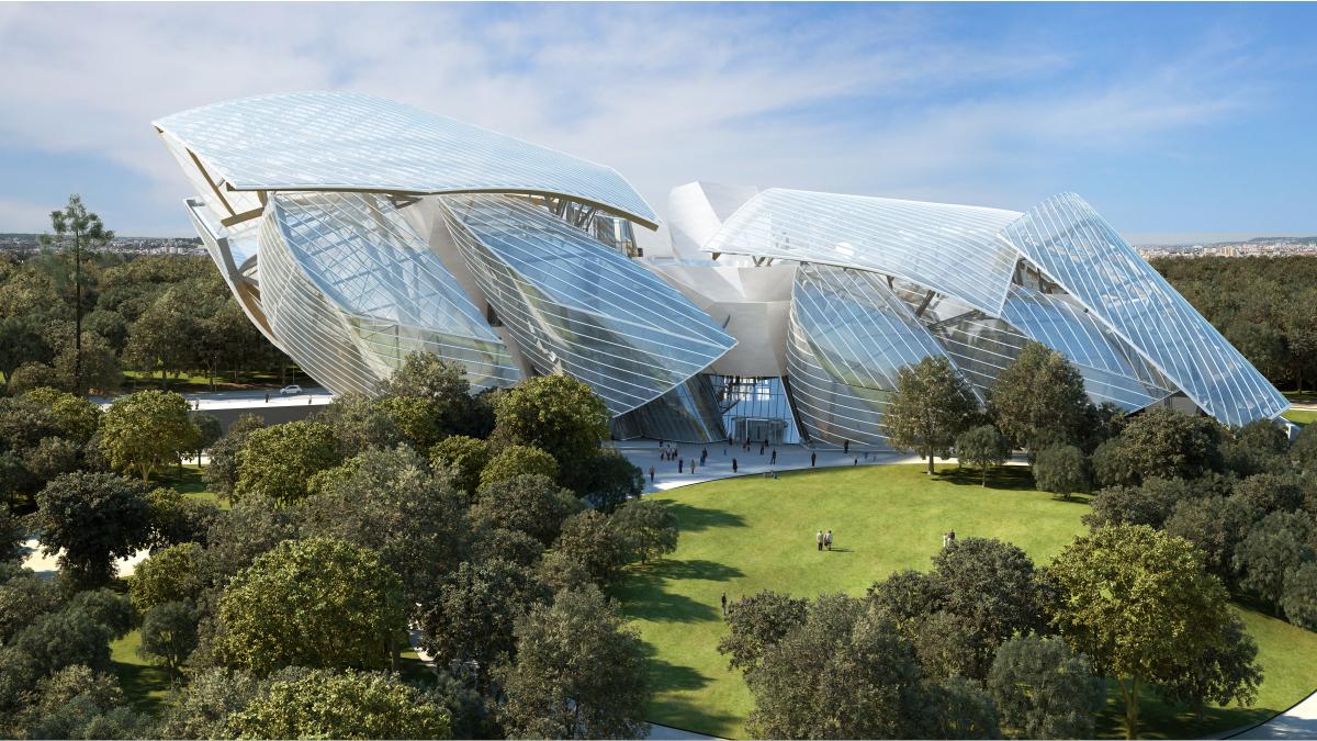 Prédio da Fundação Louis Vuitton, projetado por Frank Gehry.