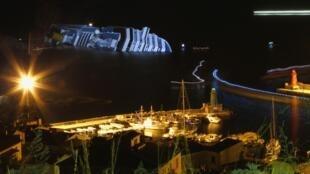 Коста Конкордия у острова Джильо 16/01/2012
