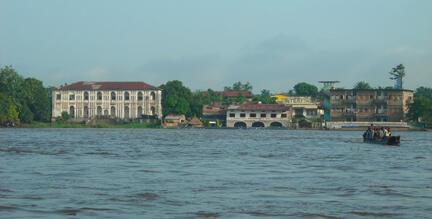 Kisangani, vue de la rive gauche du fleuve Congo, en RDC.