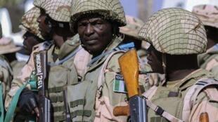 Des soldats de l'armée nigériane.