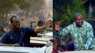 Les deux anciens ministres Anicet Georges Dologuélé (G) et Faustin Touadéra, les deux candidats pour le deuxième tour de l'élection présidentielle centrafricaine.