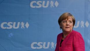 Dernier meeting de campagne pour Angela Merkel, à Munich, le 22 septembre 2017.