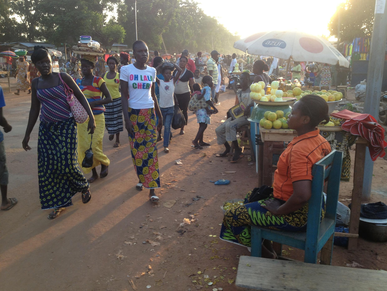 Marché Combattant à Bangui.
