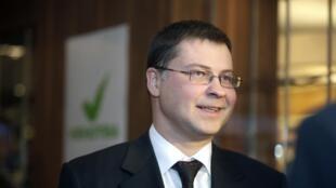 Valdis Dombrovskis, le chef du gouvernement letton sortant, le 02 octobre 2010