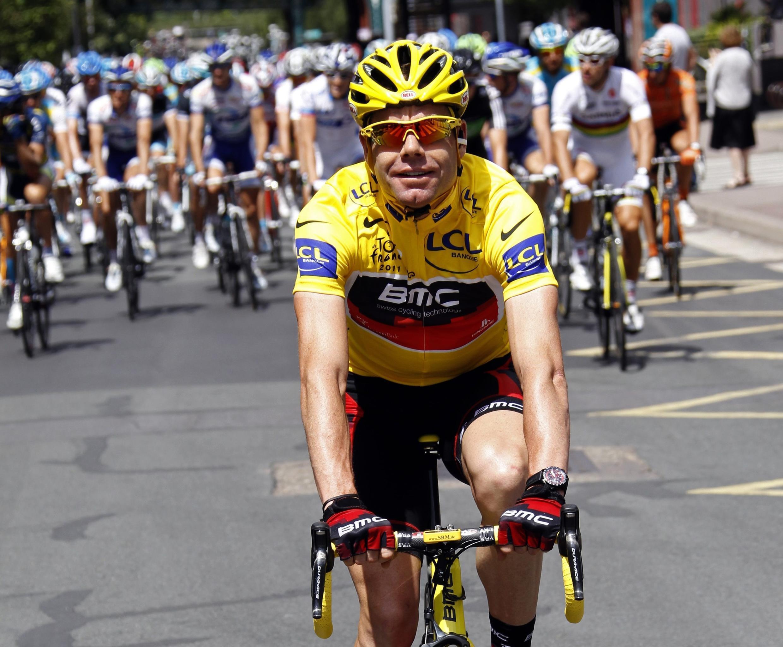 """Кейдл Эванс на последнем этапе """"Тур де Франс - 2011"""" 24 июля 2011 года"""