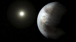 Hình minh họa hành tinh Kepler-452b do NASA cung cấp.