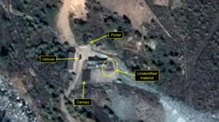 Ảnh vệ tinh chụp khu vực thử hạt nhân Punggye-Ri của Bắc Triều Tiên.