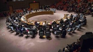 Anh, Pháp và Đức gửi thư đến 15 thành viên Hội Đồng Bảo An  ngày 18/09/2020, khẳng định đề nghị của Mỹ áp đặt trở lại trừng phạt Iran trong hồ sơ hạt nhân không có cơ  sở pháp lý. Ảnh minh họa : một hội nghị của Hội Đồng Bảo An.