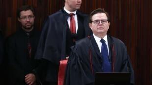 O ministro Antonio Herman Benjamin, relator do julgamento da chapa Dilma-Temer, no TSE.