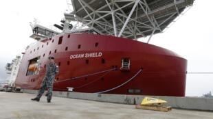 O navio da marinha australiana Ocean Shield