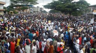 Des milliers de manifestants de l'opposition ont défilé dans les rues de Conakry.