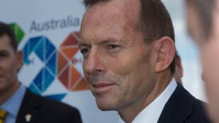 O primeiro-ministro australiano Tony Abbott durante o lançamento da presidência de seu país no G20.