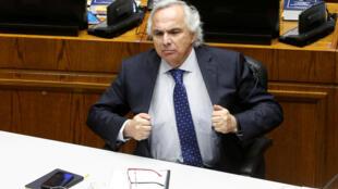 Andrés Chadwick deploró la decisión del Senado. 10 de diciembre de 2019, Valparaíso.