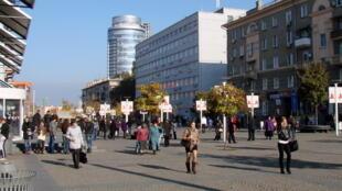 Une vue de Dnipro, anciennement Dnipropetrovsk, troisième ville de l'Ukraine.