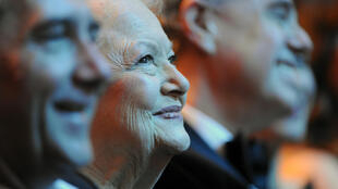 US actress Olivia de Havilland, pictured in 2011 in Paris, personified the glamour of Hollywood's Golden Age
