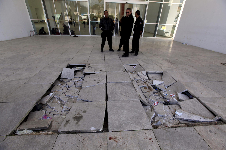 Le palais du Bardo a lui aussi souffert de l'assaut terroriste après l'attentat du mercredi 18 mars.