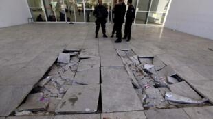 Một dấu tích  tấn công khủng bố nhắm vào viện bảo tàng Bardo ở Tunisia, ngày 18/03/2015..
