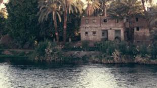 Une habitation située sur le bord du Nil.