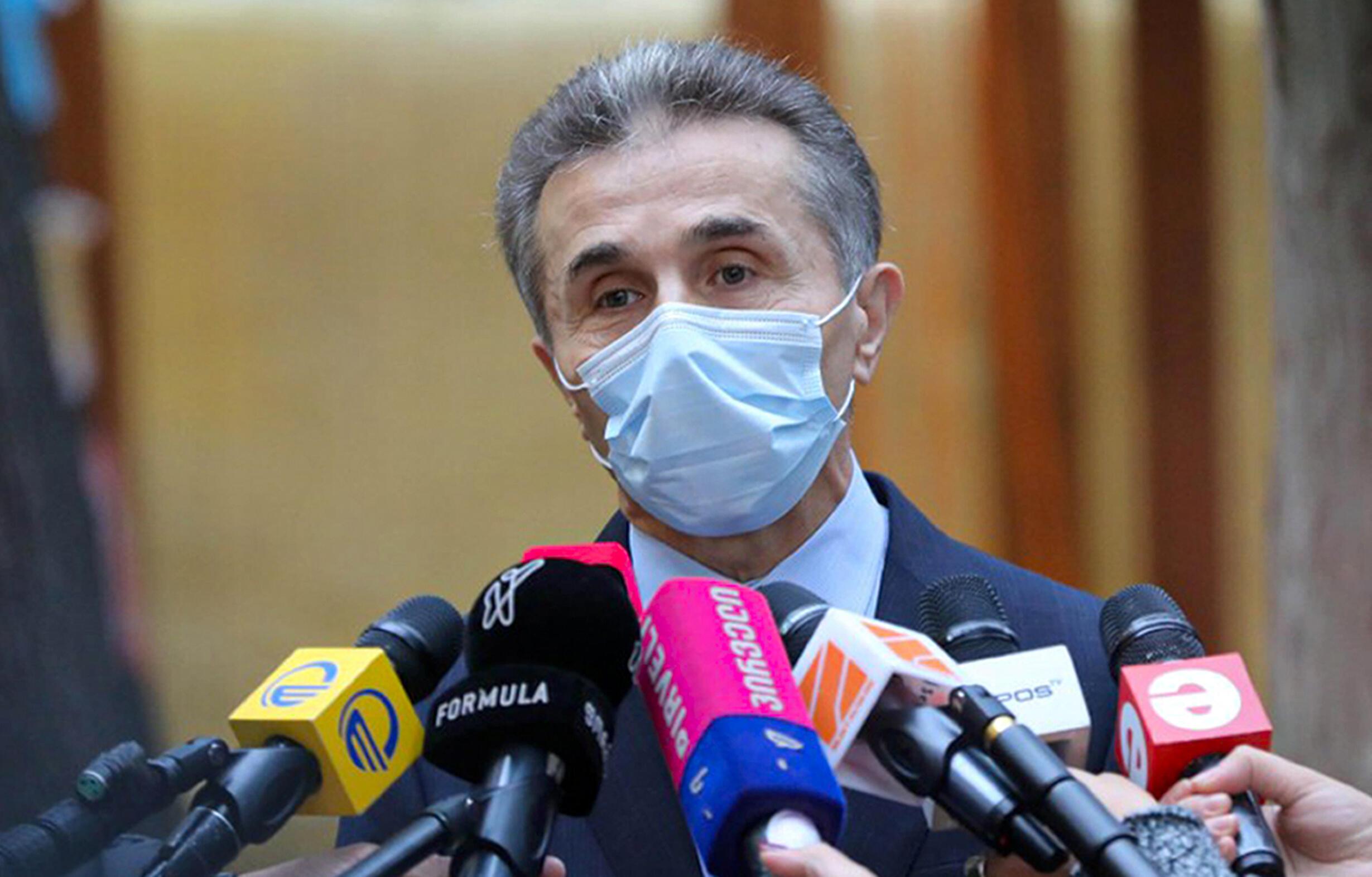 Le fondateur de Rêve géorgien, le parti au pouvoir en Géorgie, l'homme d'affaires Bidzina Ivanishvili, lors d'une conférence de presse le 31 octobre 2020 à Tbilissi.
