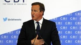 Le Premier ministre britannique David Cameron à Glasgow, le 28 août 2014.