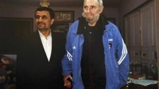 ប្រធានាធិបតីអ៊ីរ៉ង់ Mahmud Ahmadinejad និងលោកFidel Castro អតីតប្រធានាធិបតីគុយបា