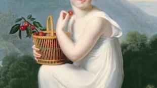 « Petite fille mangeant des cerises», de Jeanne-Élisabeth Chaudet exposée au château de Chamerolles jusqu'au 19 août 2012.