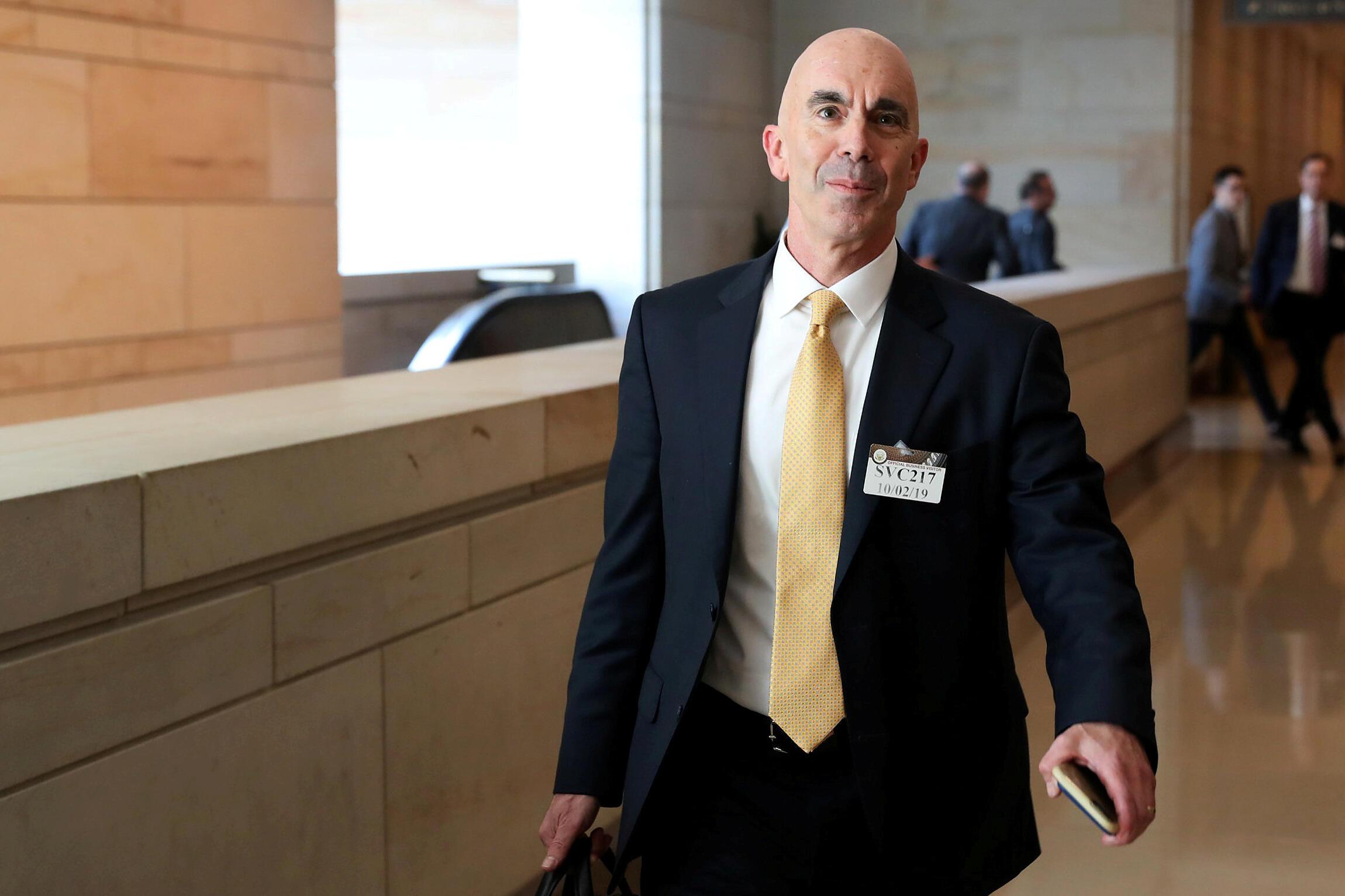 Steve Linick, inspecteur général du département d'État vient d'être limogé par Donald Trump (mai 2020).