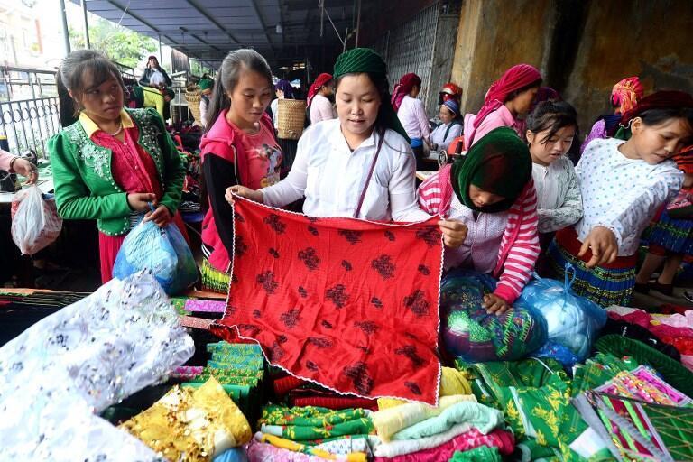 Ảnh Minh họa: Một gian hàng trong chợ Mèo Vạc, Hà Giang, chụp ngày 28/10/2018.