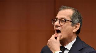 Le ministre italien de l'Economie Giovanni Tria, le 19 novembre dernier à Bruxelles.