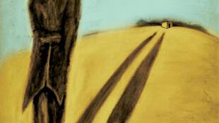 """Cartel de la obra """"Les Sauveurs (El Huésped vacío)"""