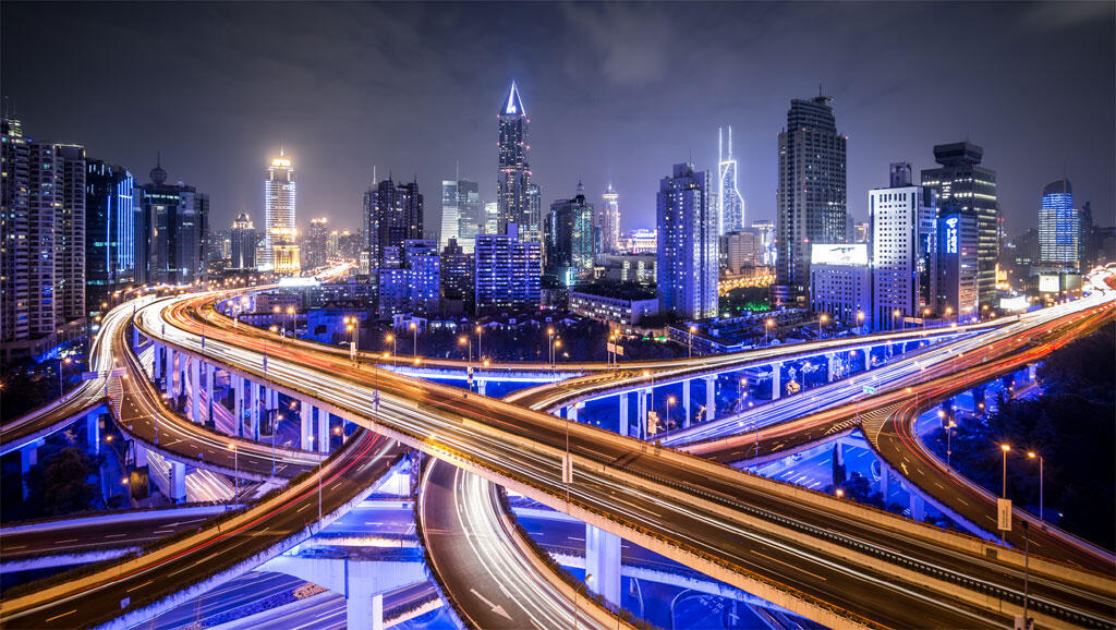 Shanghaï la nuit.