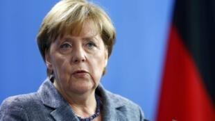 La Chanceliere allemande Angela Merkel.