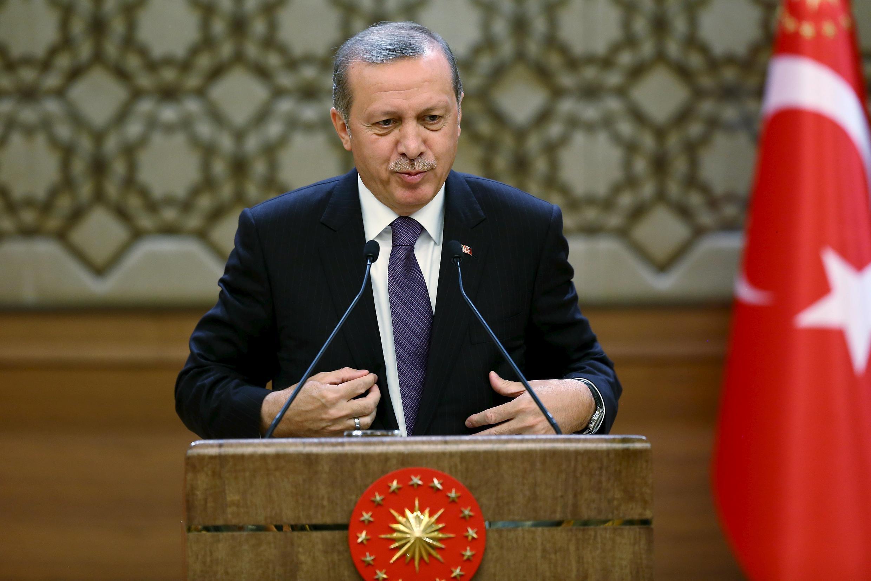 Президент Турции Реджеп Тайип Эрдоган рассказал о проекте реформы Конституции, Анкара, 4 ноября 2015.