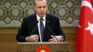 Le président turc Recep Tayyip Erdogan, le 4 novembre 2015.